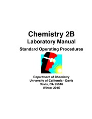 lab manual chemistry 2a laboratory manual department of chemistry rh coursehero com chem 2b lab manual uc davis pdf UC Davis Virtual Lab
