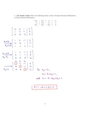 Linear Midterm with Solution