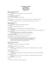 Anth 1006 Mid-Term Study Guide Spring  2015 revised.doc