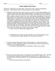 Crime Scene scenarios worksheet.docx