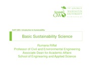 Baisic Sustainability Science Lecture