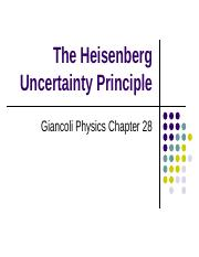 The Heisenberg Uncertainty Principle - Copy.ppt