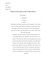Themes of the Quest of the Golden Fleece.docx