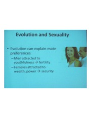 PSYCH 360 Social Psychology - Evolution & Sexuality
