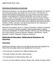Multicultural Education_ An Overview Research Paper Starter - eNotes.pdf