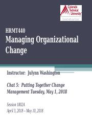 HRMT4401802A Chat 5 Putting Together Change Management.ppt