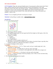 Lecture Notes on Areas on Geoboards