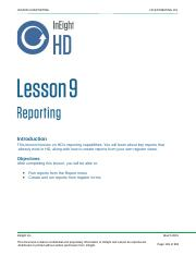 Lesson #9 Reporting.pptx
