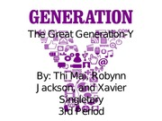 The Great Generation-Y