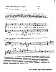 Music 103 Counterpoint Analysis