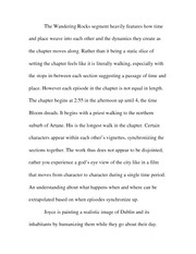 Essay on the first climax of Wandering Rocks 5