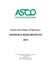 ASCO-Admission-Requirements-Handbook-2013
