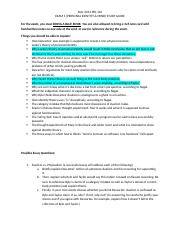 Fall 2014 Exam 1 study guide