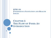 HTM 191 Chapters 5 & 6 The Flow of Food - Introduciton, Purchasing and Receiving
