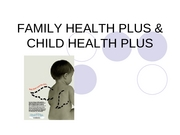 Child Health Plus Family Health Plus