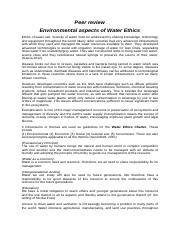 Peer review Environmental aspects of water ethics.docx