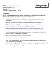 Marketing Principles Chapter 3 Assignment.docx
