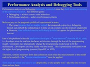 Lecture 7 - Performance Analysis and Debugging Tools