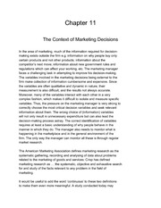 Marketing Principles Chapter 11