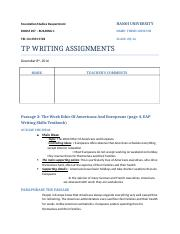 Writing Assignments-1