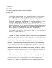 Environmental sustainability and social justice assignment 6.docx