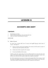 LAWII.6.6 ACCOUNTS AND AUDIT