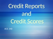 Credit Reports & Credit Scores-2