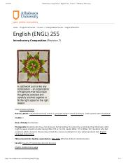 Introductory Composition _ English 255 _ Courses _ Athabasca University