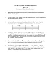 Finc 3017 Tute Questions and Solutions
