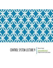 Control system lecture 9.pdf