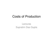 Costs of Production (1)