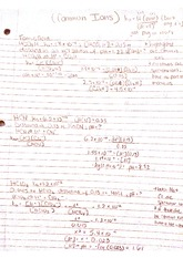 Chemistry 2_ Common Ion Notes
