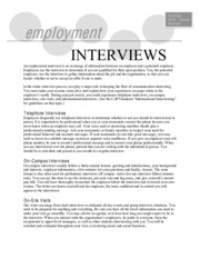 Employment Interviews 12-7-09 (1)