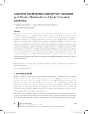 CRM approach and student satisfaction in higer education marketing.pdf