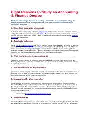 Eight Reasons to Study an Accounting.docx