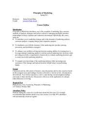 Principles of Marketing - Study Guide
