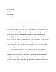 333Term Paper much ado about nothing Shakespeare.docx