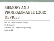 Lecture 20 - Memories and Programmable Logic Devices