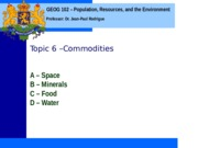 Geog 102 Topic 6