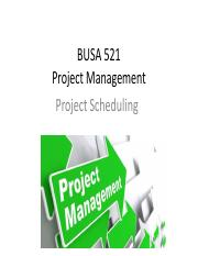 PPT 5 - Project Scheduling.pdf