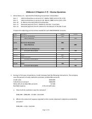 Midterm II - Review Question & Answers