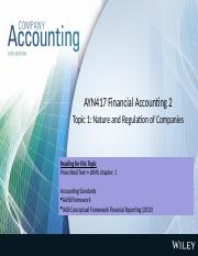 accounting regulation and conceptual frameworks