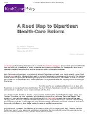 A Road Map to Bipartisan Health-Care Reform _ RealClearPolicy.pdf