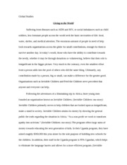 Invisible Children Essay