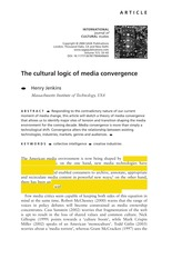 Jenkins_The Cultural Logic of Convergence