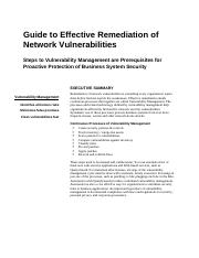 Handout 5 - Guide to Effective Remediation ofguide_vulnerability_management