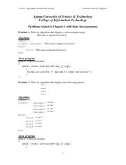 Problems related to chapter 1 with their Java programs 20131.pdf