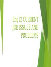 Eng12 WEEK 2 CURRENT JOB ISSUES AND PROBLEMS