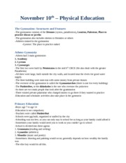 CS 2300 Study Notes by Theme -  (16): psychical education