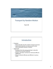 Topic 08 - Transport by Random Motion